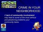 crime in your neighborhood