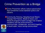 crime prevention as a bridge