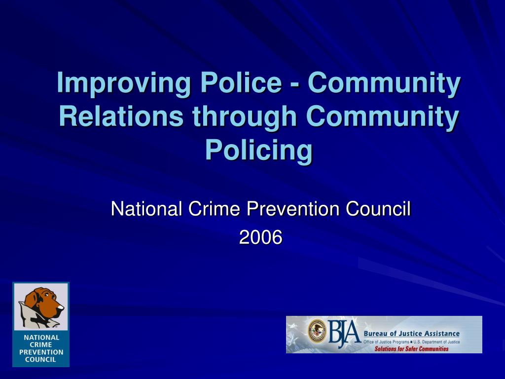 improving police community relations through community policing l.