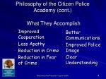 philosophy of the citizen police academy cont18