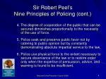 sir robert peel s nine principles of policing cont