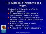 the benefits of neighborhood watch
