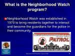 what is the neighborhood watch program