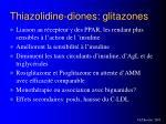thiazolidine diones glitazones