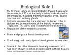 biological role i