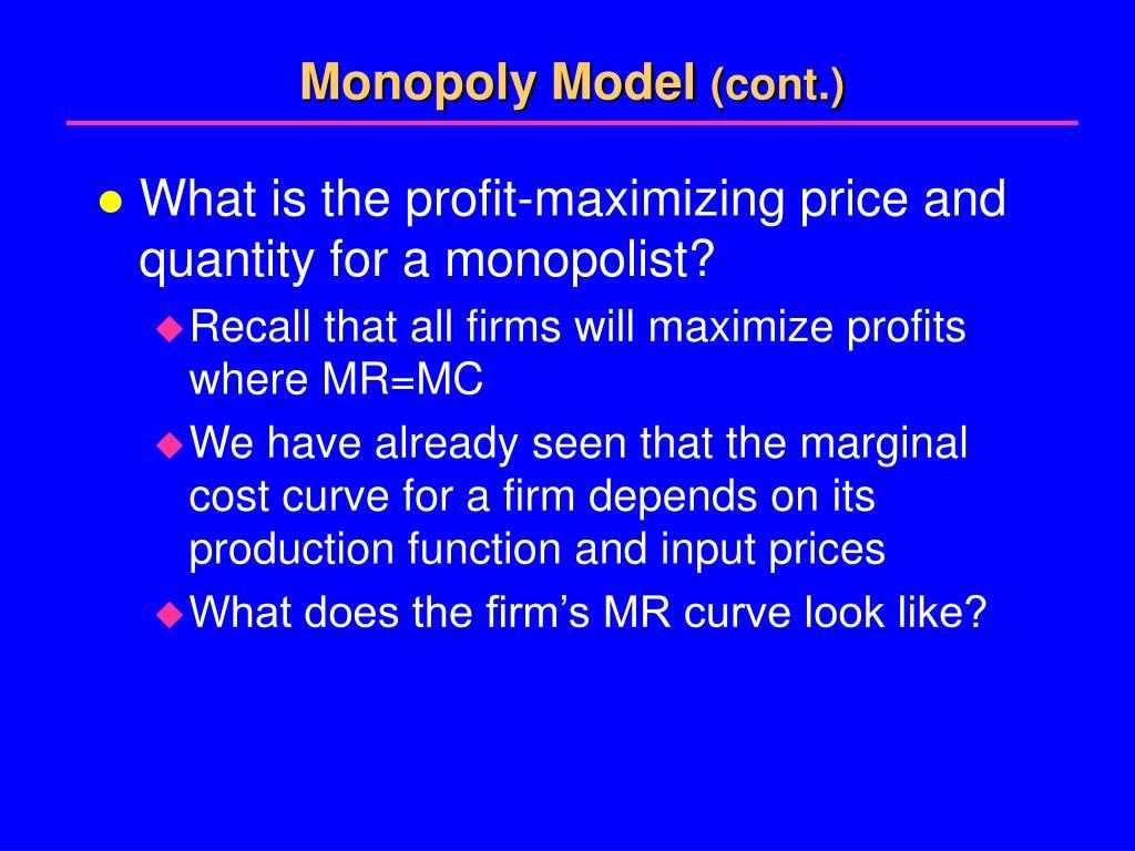 marketing structures and maximizing profits