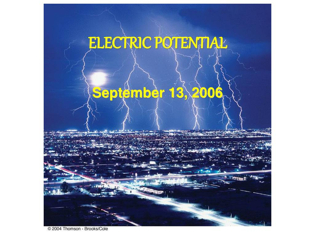 electric potential l.