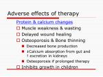 adverse effects of therapy59
