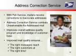 address correction service