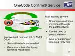 onecode confirm service