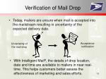 verification of mail drop