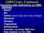 gmo crops continued