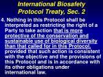 international biosafety protocol treaty sec 2
