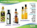 aceites especiales