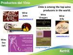 productos del vino