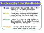 how personality styles make decisions