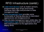 rfid infrastructure contd