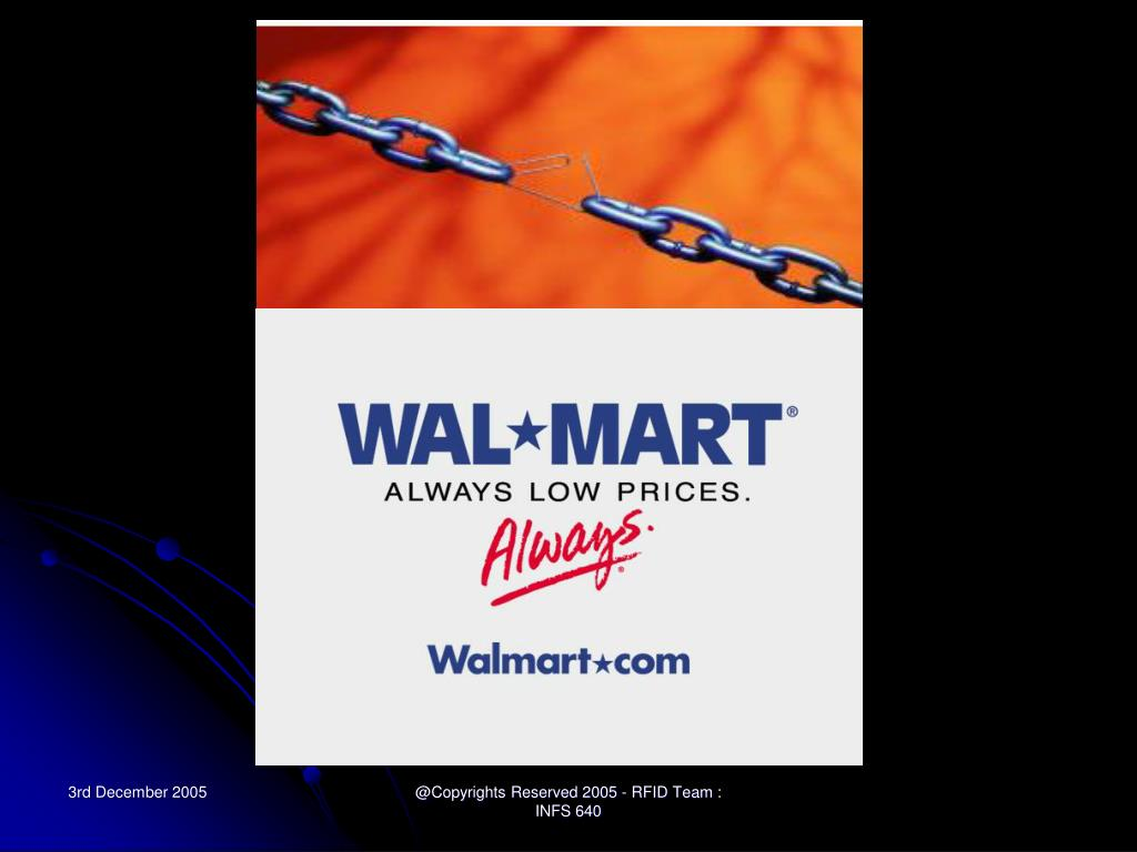 PPT - Wal*Mart Case Study: RFID & Supply Chain Management