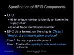 specification of rfid components30