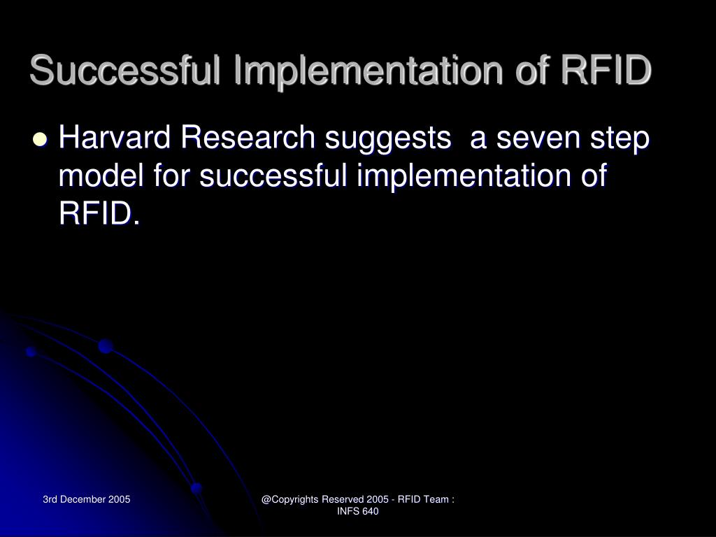 Successful Implementation of RFID