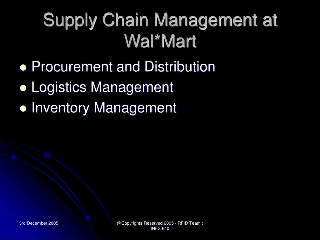 Supply Chain Management at