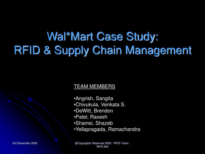 Wal mart case study rfid supply chain management