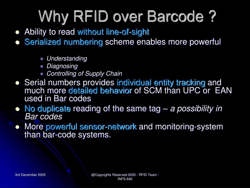 Why RFID over Barcode ?