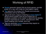 working of rfid
