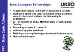 intra european fellowships