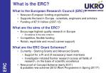 what is the erc