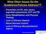 what other issues do the guidelines policies address16