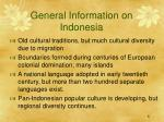 general information on indonesia