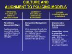 culture and alignment to policing models10