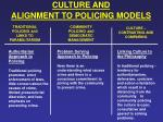 culture and alignment to policing models11