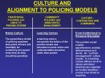 culture and alignment to policing models13