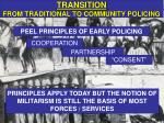 transition from traditional to community policing