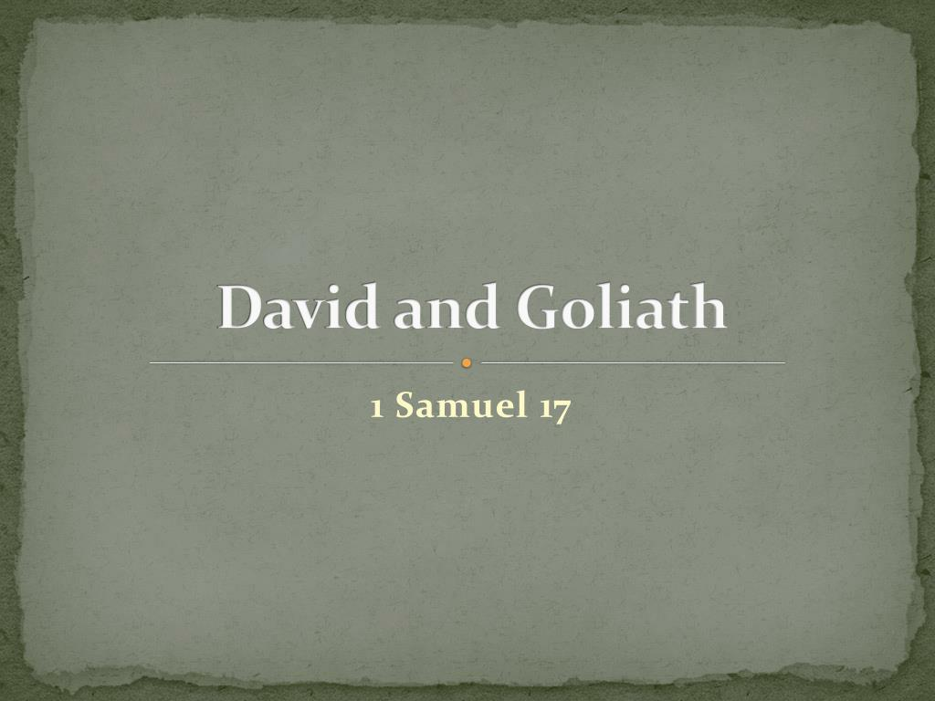 david and goliath l.