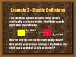 example 2 elastic collisions