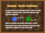 example elastic collisions