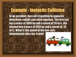 example inelastic collision