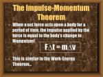 the impulse momentum theorem