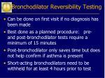 bronchodilator reversibility testing23