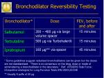 bronchodilator reversibility testing24