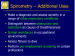 spirometry additional uses