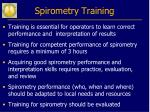 spirometry training