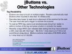 i buttons vs other technologies5