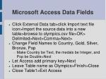 microsoft access data fields