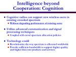 intelligence beyond cooperation cognition