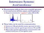 interweave systems avoid interference