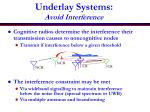 underlay systems avoid interference